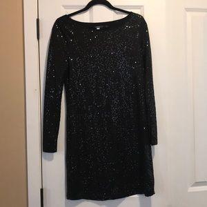 Long Sleeve Sequin Kensie Dress